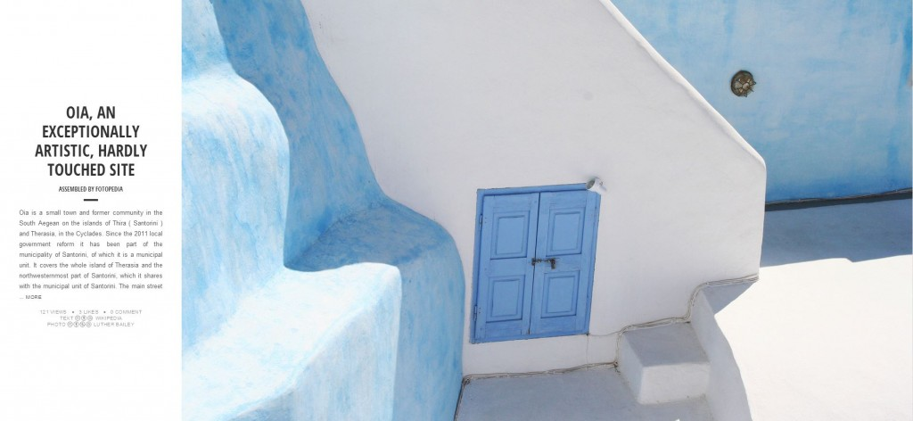 Fotopedia Magazine - Oia, an exceptionally artisitic, hardly touched site