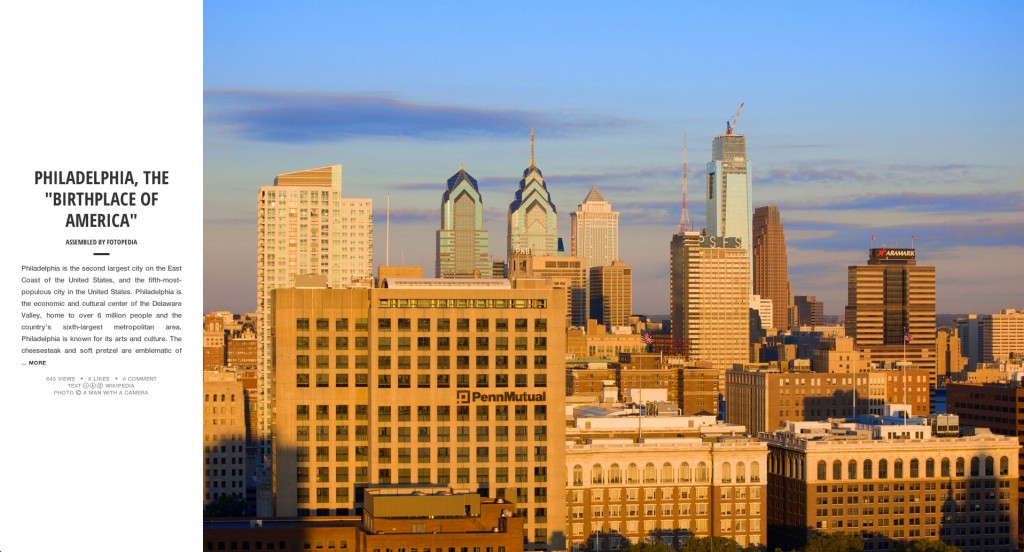 Fotopedia Magazine - PHILADELPHIA, THE BIRTHPLACE OF AMERICA